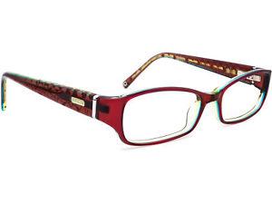 Coach Women's Eyeglasses NUALA 2019 Burgundy Rectangular Frame 50[]16 135