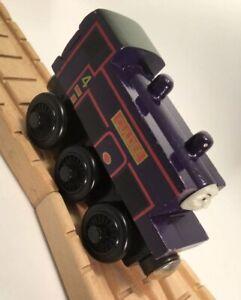 Thomas Wooden Railway Culdee 1998 BA Allcroft Train Set Engine w/2 Faces Car Toy