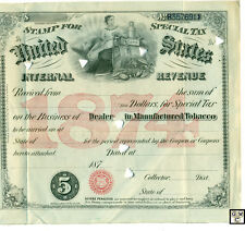 United States Stamp for Special Tax Internal Revenue in Tobacco (OOAK)