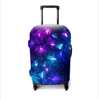 4 size Travel Luggage Suitcase Elastic Protector Cover Dust-proof Blue Crystal