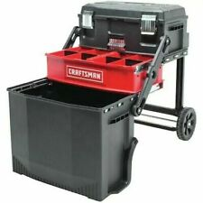 *NEW* Portable Tool Box Storage Rolling Mobile Organizer Work Station Lockable