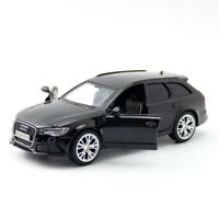 1:36 Scale Audi RS 6 Avant Wagon Model Car Diecast Toy Vehicle Black Kids Gift
