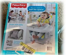 Fisher-Price SpaceSaver Portable Adjustable High Chair, Windmill Pattern in Box