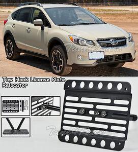 For 2013-2016 Subaru XV Crosstrek Front Bumper Tow Hook License Plate Kit Mount