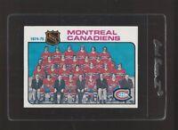 1975 Topps Hockey Montreal Canadiens Team #90 NM-MT