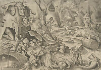 Framed Print - 7 Deadly Sins GLUTTONY by Pieter Bruegel the Elder 1558 (Picture)