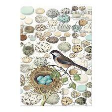Michel Design Works Cotton Kitchen Tea Towel Bird Nest & Eggs - NEW