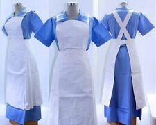 vintage Sanatoriumsuniform Gr 42, Schwesternkleid + PVC-Schwesternschütze Klinik