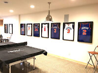 jersey frame, jersey framing, jersey frames,  football jersey display case black
