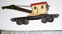Vintage LIONEL 2660 Mostly Metal Tinplate Derrick Train Crane Car O/O-27 Gauge