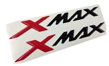 Coppia Adesivi Resinati Sticker 3D  XMAX X MAX New Red & Black