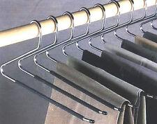 12 Pezzi Set di staffe PANTALONE open end PANTS Easy Slide Guardaroba organizzatori