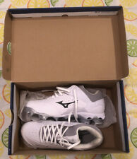 Mizuno 9-Spike Advanced Finch Elite 3 Women Softball Cleats White Grey Size 7