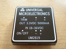 UM2819 24 volt to 3.3 volts  dc-dc converter 5 amps with trim   Z87