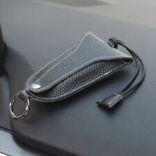 Universal Leather Car Auto Key Holder Case Chain Ring Cover Protector Shell Bag