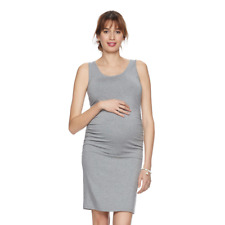 a7d2c02d07b Maternity AGLOW Sleeveless Ruched Tank Dress Size XL Gray a Glow