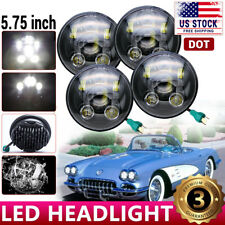 "DOT 90W 5.75 5-3/4"" Round Led Headlights For Chevy GMC Corvette C1 C2 1963-1982"