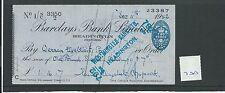 Wbc. - chèque-CH700-utilisée-années 1940-barclays, Headington, oxford