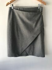 [CR LOVE] SZ XL (16) NEW! COUNTRY ROAD  PANELLED WOOL SKIRT MID GREY (NO TAGS)