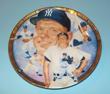 Mickey Mantle NY Yankees 1992 Hamilton Collection Best Of Baseball Plate HOF