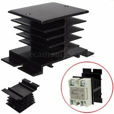 Black 10~40A  Aluminum Heat Sink For Solid State Relay SSR Type Heat Dissipation