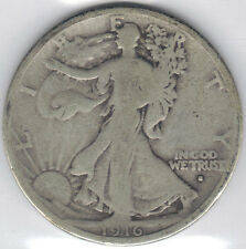 TMM* 1916-S Uncertified Silver Walking Liberty Half  Dollar VG