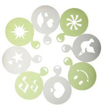 Kitchencraft confezione da 8 plastica BEVANDE Stencil ( varie forme ) -