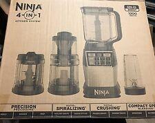 Ninja 4-in-1 Kitchen System Blender Processor Auto-Spiralizer High-Speed 1200W