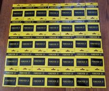 Forever 21 Store UNCHARGED NO VALUE Collectible Gift Cards Lot 35 New On Card