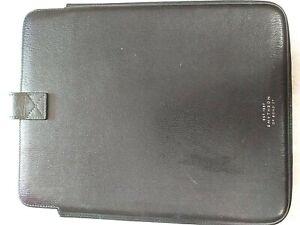 Smythson Of Bond St Black Leather Tablet Case #638