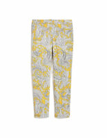 J. Crew Factory Skimmer Ankle Pants Yellow Gray Paisley Print Stretch 2 / XS