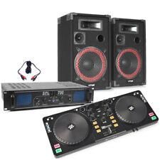 Pair of Speakers XEN 700 and Stereo Amplifier Starter Bedroom DJ Controller Set
