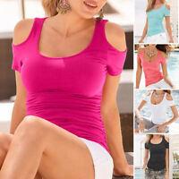 Fashion Women Ladies Short Sleeve Top Summer Tank Tops T-Shirt Casual Blouse Tee