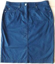 Langer blau lila Rock bestickt S M L XL Übergröße 2XL 3XL 4XL 5XL 6XL Hippie