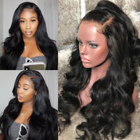Thick Body Wave Lace Front Wigs Brazilian Remy Human Hair Silk Top Full Lace Wig
