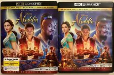 DISNEY ALADDIN LIVE ACTION 4K ULTRA HD BLU RAY 2 DISC + SLIPCOVER SLEEVE 2019