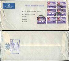 Singapore 1961 POSTA AEREA ohm + 7 x 30C Commissario al commercio ENV ufficiale a Slough