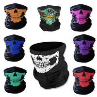 8X Ghost Biker Skull Hood Face Mask Motorcycle Ski Balaclava CS Sport Helmet US