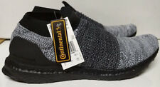 ADIDAS Ultra Boost Laceless Size 11.5 Core Black White Running Sneaker BB6137