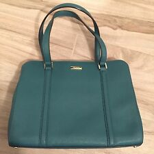 Kate Spade Newbury Lane Emerald Green Blue Leather Bag