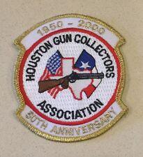 "Vintage ""Houston Gun Collectors Association 50th Anniversary"" Patch! Free Ship!"