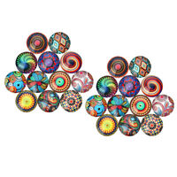 40x Flatback Cameo Mixed Glass Round Cabochon 10mm DIY jewelry rings earring