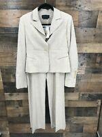 New BCBG Maxazria Women's 2pc Light Heather Camel Blazer Jacket and Trousers