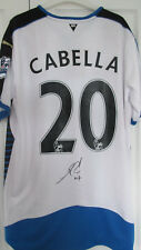 signed REMY CABELLA Newcastle United 2015/16 Home Shirt w/ Exact Proof