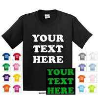 GLOW IN THE DARK YOUTH KIDS PERSONALIZED CUSTOM PRINT YOUR OWN TEXT T-SHIRT TEE