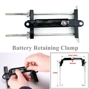 Car Truck Boat Battery Retaining Holding Clamp Bracket Bolt Tie Hold Down Kits
