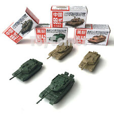 4 pcs US M1A2 Abrams Tank Chinese Type 99 Tank 4D Finished Model Toy 1:144 Scale