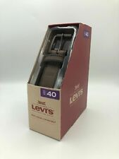 LEVI'S Men's Casual Leather Belt - Brown - Size 40 NIB NEW!!