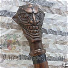 Antique Joker Style Designer Wooden Walking Canes Stick Vintage Gift Decor Cane