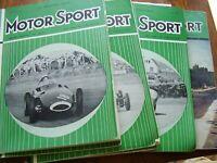 VINTAGE JOB LOT X 10  1958 MOTOR SPORT CAR AUTO MAGAZINES MOTORING